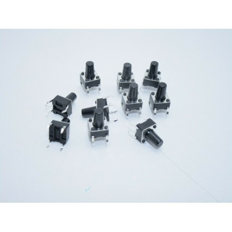 10 pezzi Pulsanti tattili 6x6x9,5mm momentanei da circuito stampato per arduino