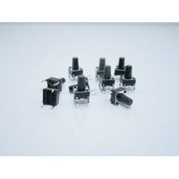 10 pezzi Pulsanti da circuito stampato miniaturizzati 6x6x9,5 per arduino
