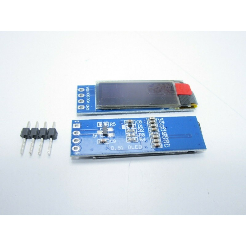 "Display OLED LCD LED 0,91""128X32 128362 I2C IIC SSD1306 bianco 4 pin  arduino"