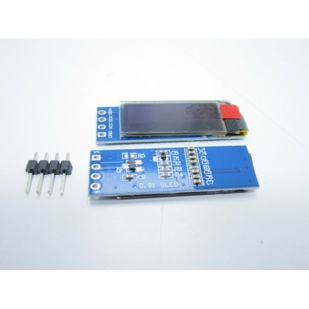 "Display OLED LCD LED 0,91"" 128X32 128362 I2C IIC SSD1306 bianco 4 pin arduino"