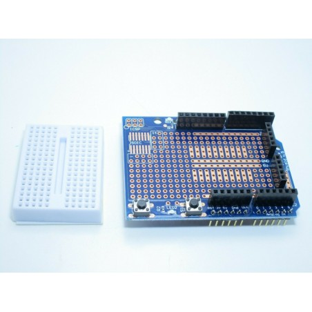 Protoshield V5 per Arduino UNO R3 + piastra sperimentale pcb 170p reset led icsp