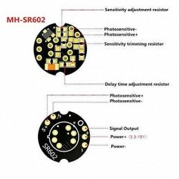 Sensore di rilevamento movimento PIR SR602 MH-SR602 distanza fino 5 mt arduino