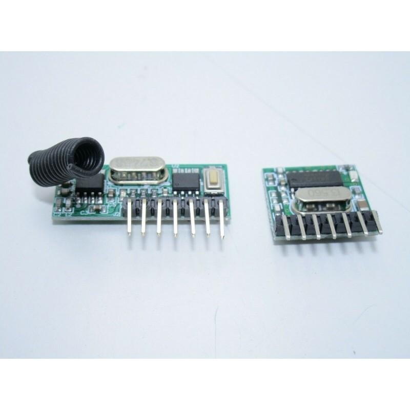 Kit Ricevitore e trasmettitore radio 433mhz 4 canali RX480E TX118SA-4