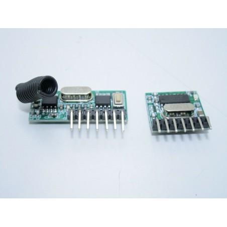 Kit trasmettitore e ricevitore supereterodina radio 433mhz 4 ch RX480E TX118SA-4