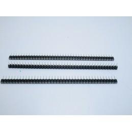 3 Strip line connettori femmina 40pin passo 2,54mm rotondi separabili tulipano