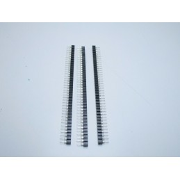 3 Strip line connettori femmina 40pin passo 2,54mm rotondi separabili tulipano