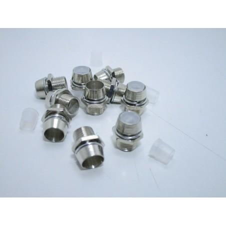 10 pezzi Portaled in acciaio cromato montante per fissaggio led 5mm