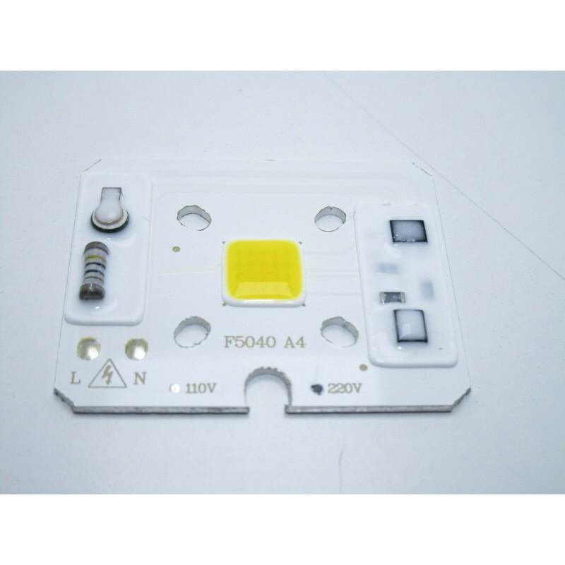Chip led cob 10w con driver 220V integrato bianco freddo 1100lm 6000k per fari