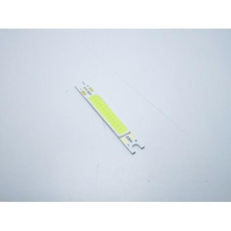 Chip led strip 3w bianco ghiaccio 9-12v 10000k 300lm per ricambio faretti 5x7mm