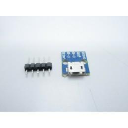 Adattatore micro usb femmina 5 pin a circuito pcb per fai da te elettronica