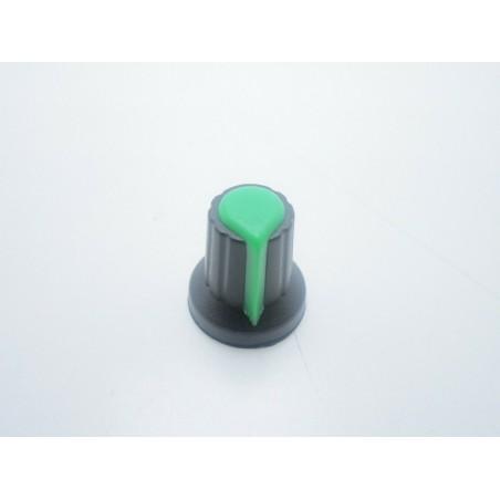 Manopola Verde con incastro a pressione per potenziometri asse 6mm ID-2007