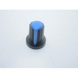 Manopola Blu con incastro a pressione per potenziometri albero asse 6mm