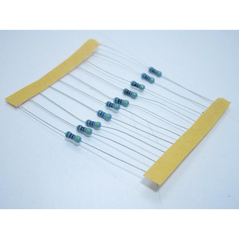 10 pezzi Resistenze resistenza resistore film di carbonio 1/4w 10K 10r 0,25w 1%