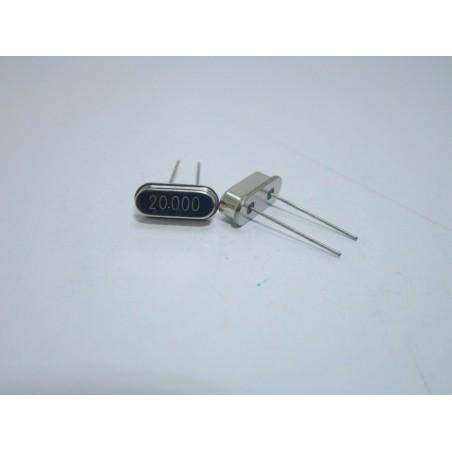 2 pezzi Quarzo 20,000 MHz HC49S per microcontrollori atmega pic oscillatore