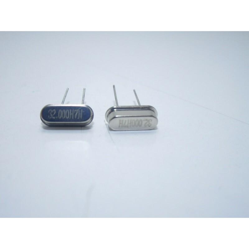 2 pz Mini quarzo 32.000h7h MHz HC49S per microcontrollori atmega pic oscillatore