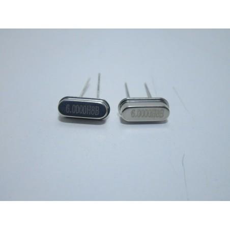2 pz Mini quarzo 6.0000H8B MHz HC49S per microcontrollori atmega pic oscillatori