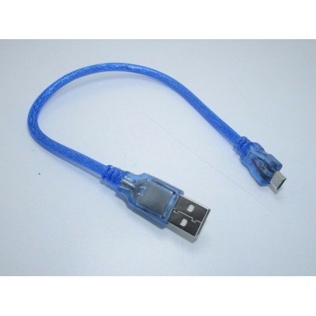 Cavo cavetto dati da porta usb a micro usb 5 pin per arduino DUE 30 cm ID-2033