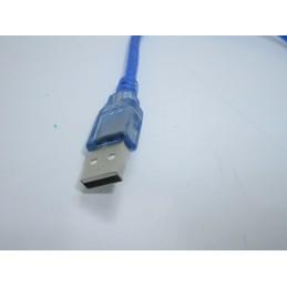 Cavo dati da porta usb a micro usb 5 pin per arduino ricarica smartphone 30cm