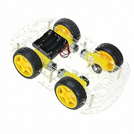 Kit smart car wheel robot 4 WD 4 motoriduttori ruote encoder piattaforma viti