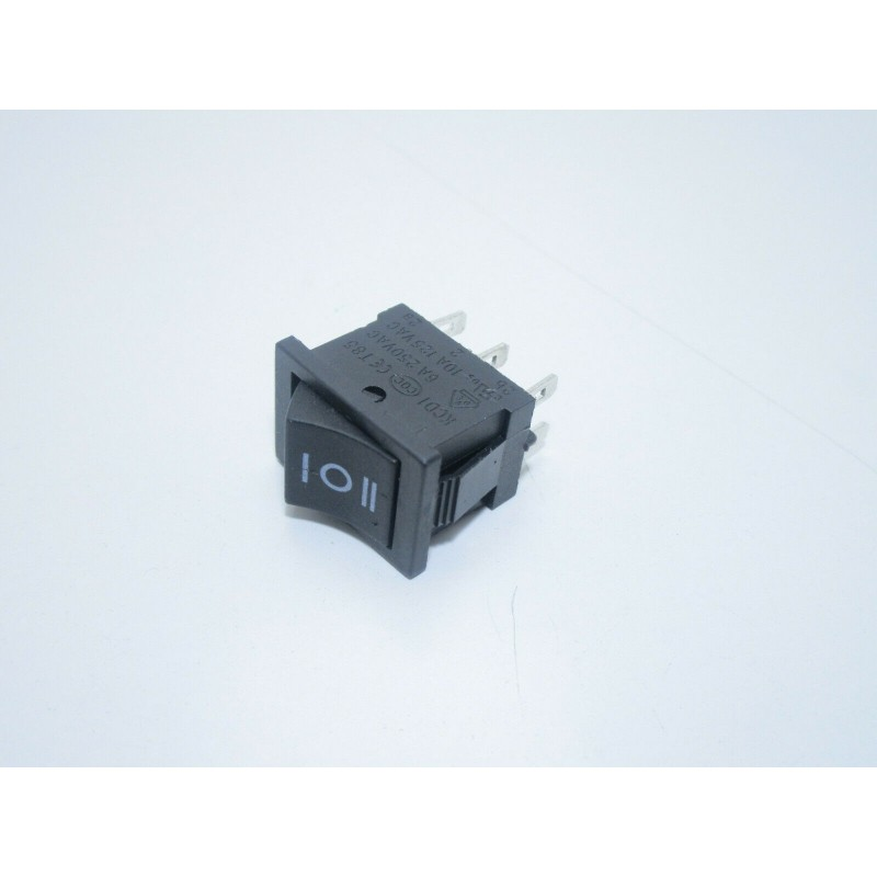 Interruttore deviatore bipolare DPDT a 3 posizioni on off on 6 pin  250Vac 10A