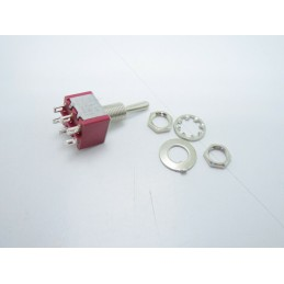 Interuttore a leva bipolare MTS-203 6 pin 3 posizioni on off on SPDT 250VAC 2A