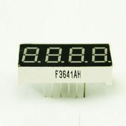 """Display digitale rosso 0,56"""" a 7 segmenti catodo comune 4 cifre bit 12V Arduino"""