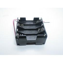 Portapile portabatterie clip contenitore per 8 pile batterie stilo AA da 1,5v