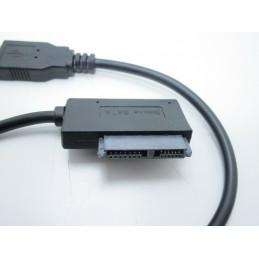 Convertitore adattatore da porta usb 2.0 a sata 7+6 13pin per lettore CD/DVD ROM