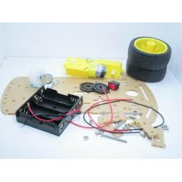 Kit robot 2 ruote arduino piattaforma motoriduttori portabatterie encoder viti