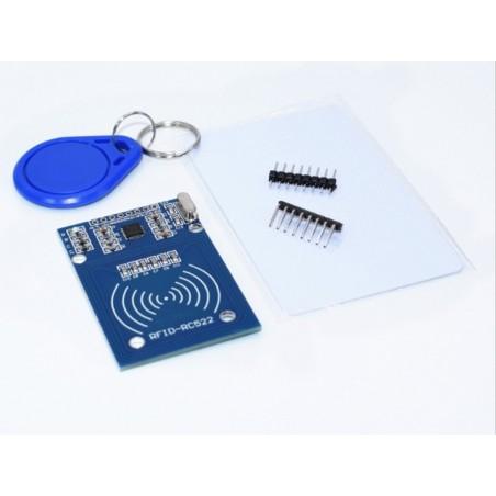 Lettore RFID 13,56mhz con portachiavi e card compatibile con RC522 per arduino