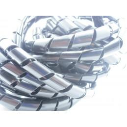Guaina a spirale copri cavo avvolgi cavi 2 metri Ø 10mm per filo cavetti pc tv