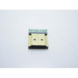 Connettore  hdmi maschio 19 pin pcb a saldare