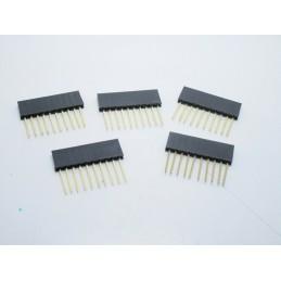 5 pz Strip line femmina contatti lunghi 10 poli da circuito stampato arduino