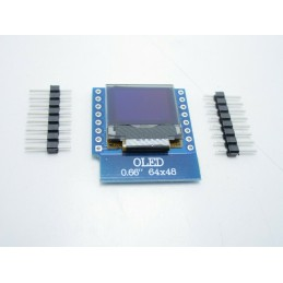 "Display lcd led oled shield 0,66"" 64x48 I2C SSD1306 bianco Wemos d1 mini v3.0.0"