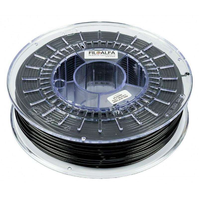 Bobina filamento PLA 1,75mm 700gr Nero FiloAlfa 170-210°c per stampante 3D