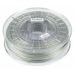 Bobina filamento PLA 1,75mm 700g Grigio Metallico FiloAlfa 170-210°c stampante3D