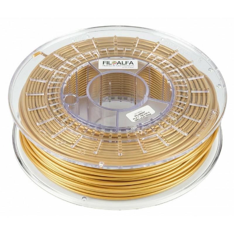 Bobina filamento PLA 1,75mm 700gr Oro FiloAlfa 170-210°c per stampante 3D