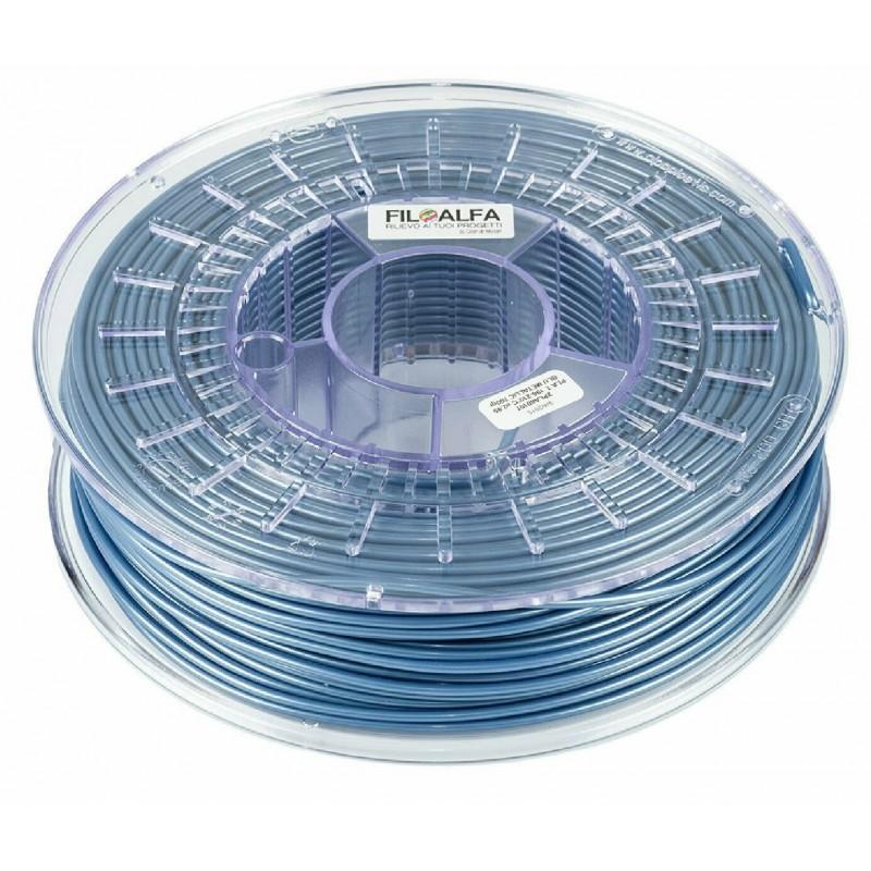 Bobina filamento PLA 1,75mm 700gr Blu metallico FiloAlfa 170-210°c stampante 3D