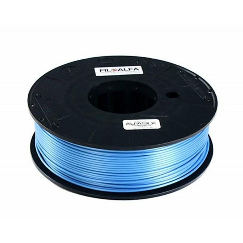Bobina filamento PLA AlfaSilk 1,75mm 250g Azzurro Chiffon FiloAlfa stampante 3D