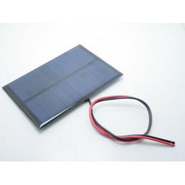 Mini pannello cella solare fotovoltaico 5v 200mA 1 watt con fili 100x70x50mm