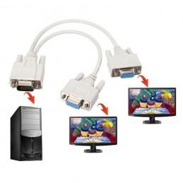 Cavo sdoppiatore VGA SVGA HDB15 maschio femmina per monitor lcd pc