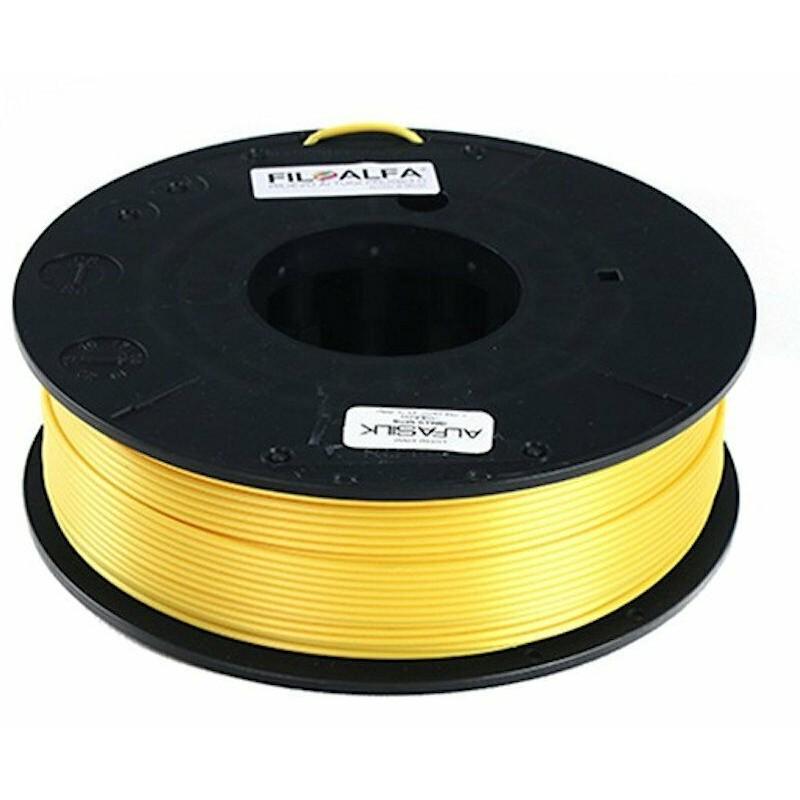 Bobina filamento PLA AlfaSilk 1,75mm 250g Giallo satinato FiloAlfa stampante 3D