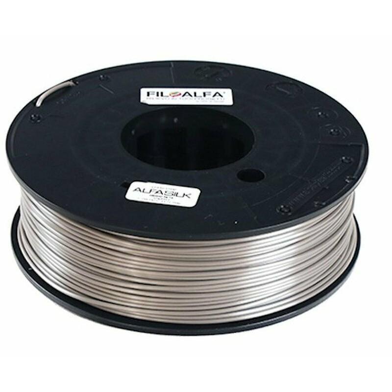 Bobina filamento PLA AlfaSilk 1,75mm 250g Grigio seta FiloAlfa stampante 3D