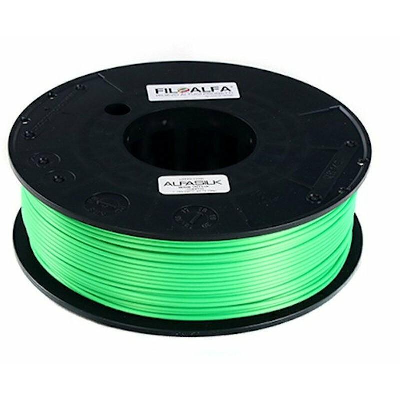 Bobina filamento PLA AlfaSilk 1,75mm 250g Verde taffetà FiloAlfa stampante 3D