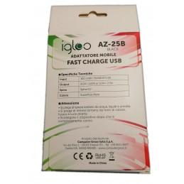 Caricabatteria universale per carica rapida fast charge USB 9v 1.67A 5v 2A