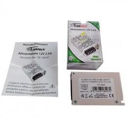 Alimentatore switching 12V 2.5A 30W stabilizzato trasformatore 220V