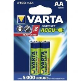 2 Batterie pile stilo AA 1,5V 2100mAh VARTA ricaricabili