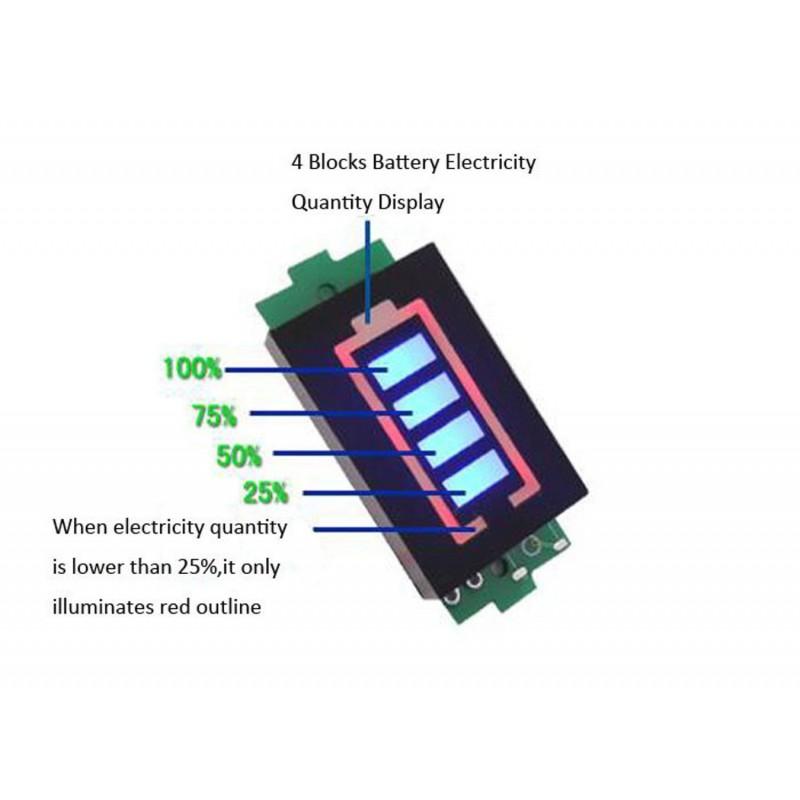 Tester batterie indicatore di tensione e capacità batterie Li-po da 3,7V a 4,2V