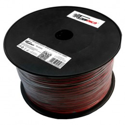 Matassa cavo piattina rosso nero 2X0,75mm CCA 100mt per altoparlanti casse audio