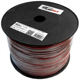 Matassa cavo piattina rosso nero 2X2,50mm CCA 100mt per altoparlanti casse audio